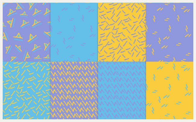 90s Patterns - Seamless hi res downloads as part of Atomic Pop online store