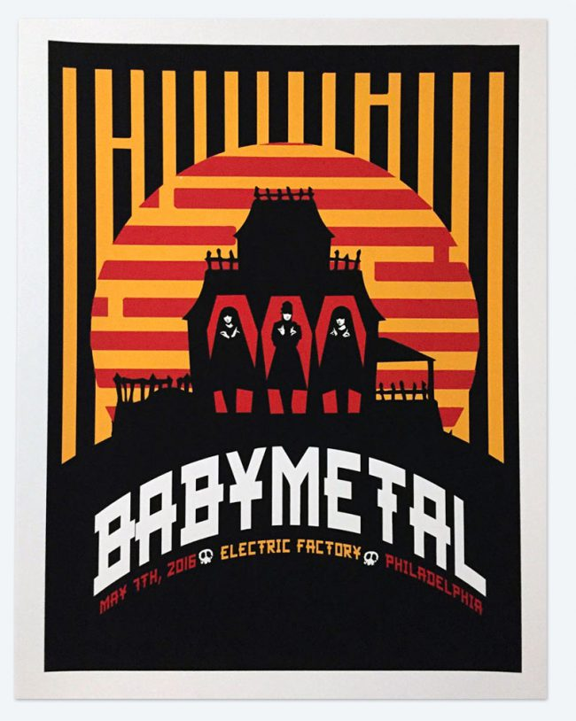 Baby Metal Poster - 19 x 25 - May 07, 2016 Electric Factory - NFS