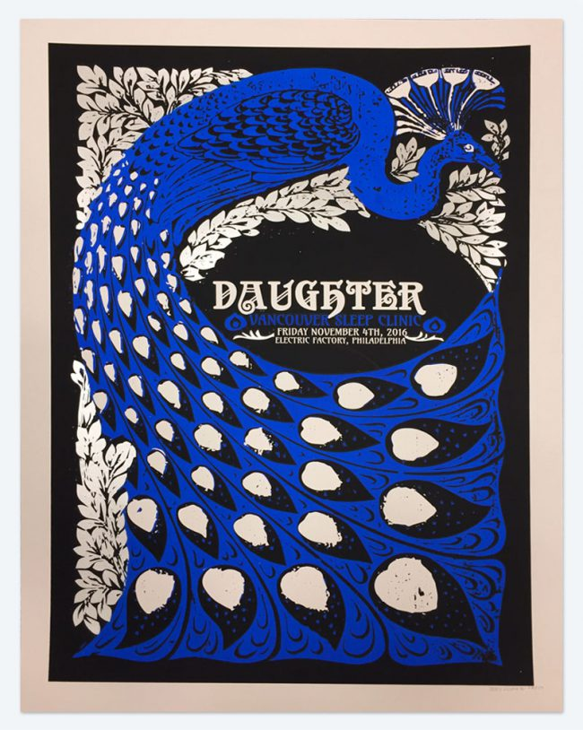 Daughter Poster - 19 x 25 - November 4, 2016 Electric Factory - NFS