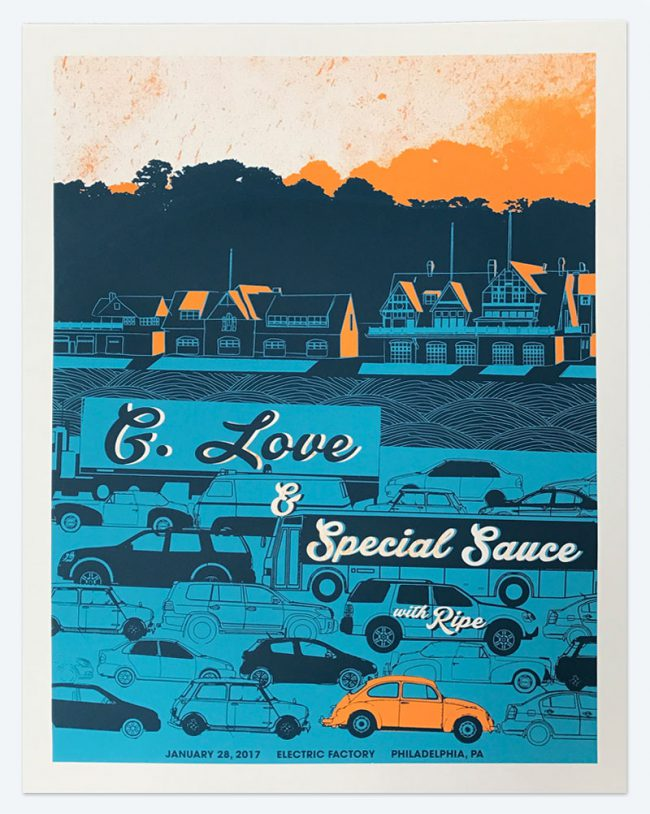 G. Love & Special Sauce - 19 x 25 - January 28, 2017 Electric Factory - NFS