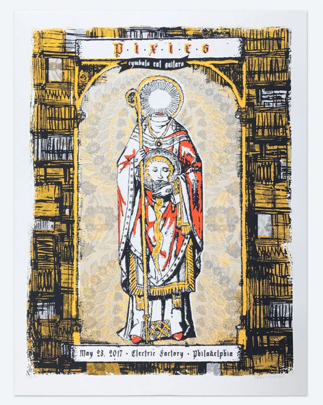 Pixies Poster - 19 x 25 - March 23, 2017 Electric Factory - NFS