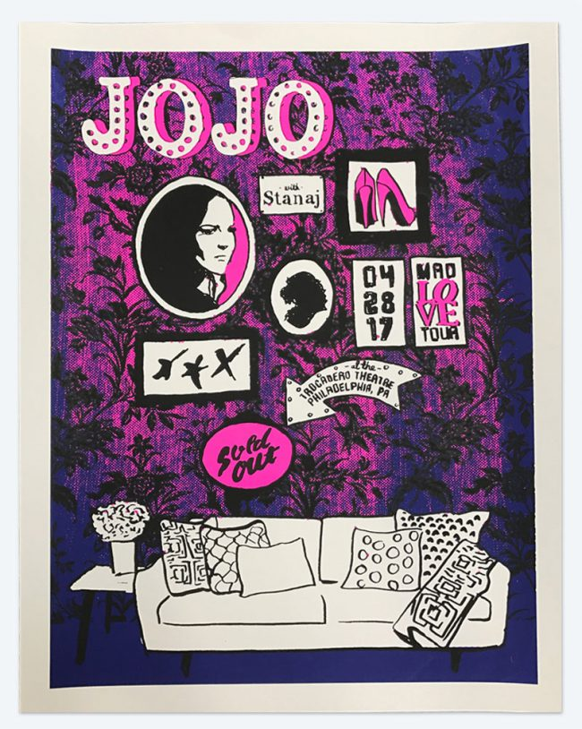 Jojo Poster - 19 x 25 - April 29, 2017 Trocadero Theatre - NFS