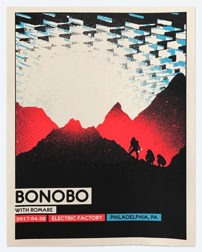 Bonobo Poster - 19 x 25 - April 29, 2017 Electric Factory - NFS